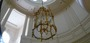 Chandeliers are often hung from high difficult access ceilings.
